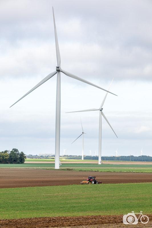 territoires éoliens, éolienne, énergie éolienne, Picardie, Sommettes, tracteur, agriculture, automne, Nordex, N117