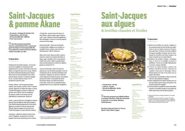 2 recettes de Saint-Jacques dans l'alimentation de demain ?